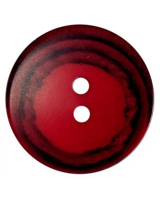 polyester button round shape with matt surface, structure and 2 holes - Size: 18mm - Color: rot - Art.No.: 318818