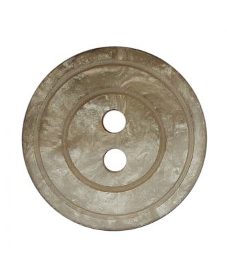 polyester button round shape with shiny surface, pearl effect and 2 holes - Size: 15mm - Color: beige - Art.No.: 288800