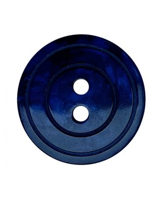polyester button round shape with shiny surface, pearl effect and 2 holes - Size: 15mm - Color: dunkelblau - Art.No.: 288802