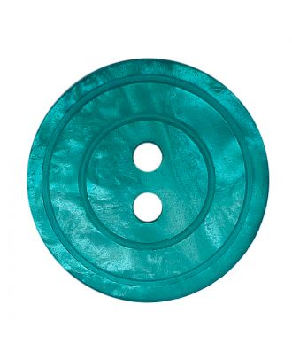 polyester button round shape with shiny surface, pearl effect and 2 holes - Size: 15mm - Color: grün - Art.No.: 288804
