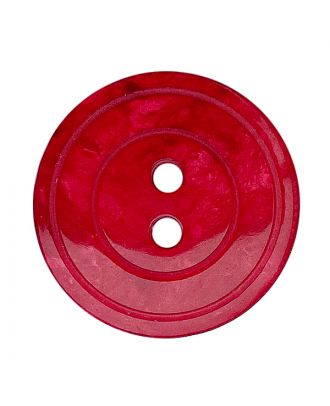 polyester button round shape with shiny surface, pearl effect and 2 holes - Size: 15mm - Color: rot - Art.No.: 288807