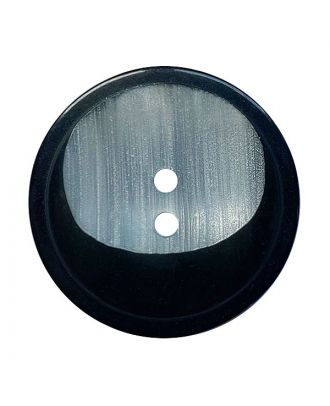polyester button round shape with 2 holes - Size: 28mm - Color: schwarz - Art.No.: 380428