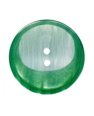 polyester button round shape with 2 holes - Size: 18mm - Color: grün - Art.No.: 312018