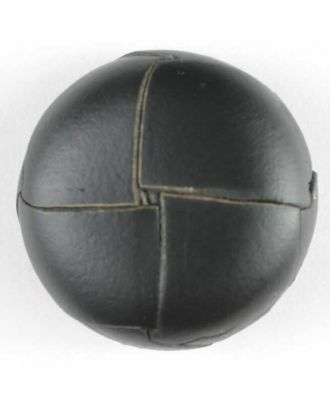 Genuine leather button - Size: 18mm - Color: black - Art.No. 370288
