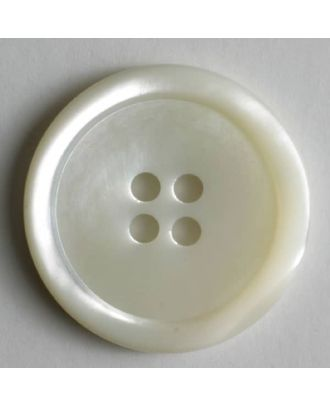 shell button - Size: 20mm - Color: white - Art.No. 440013