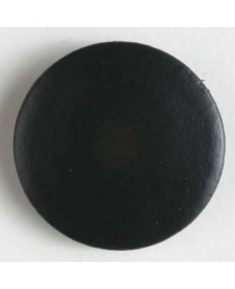 Genuine leather button - Size: 15mm - Color: black - Art.No. 350372