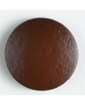 genuine leather button - Size: 15mm - Color: brown - Art.-Nr.: 350373