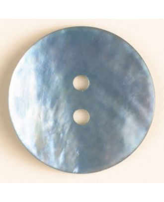 natural pearl button - Size: 23mm - Color: blue - Art.-Nr.: 360477
