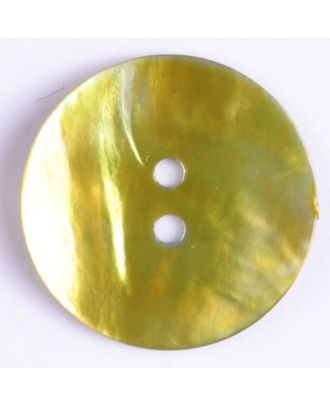 natural pearl button - Size: 15mm - Color: green - Art.-Nr.: 280844