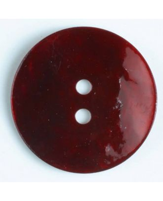natural pearl button - Size: 25mm - Color: wine red - Art.-Nr.: 380098