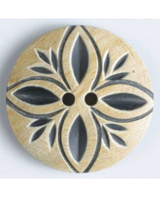 natural horn button 2 holes - Size: 31mm - Color: beige - Art.No. 510024