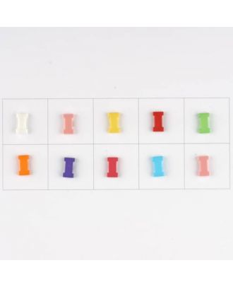 letter I, 10 mixed colours, 3 buttons per colour - Size: 11mm - Color: mixed: red, pink, orange, lilac, blue, yellow, green, white, light blue,rose - Art.-Nr.: 181341