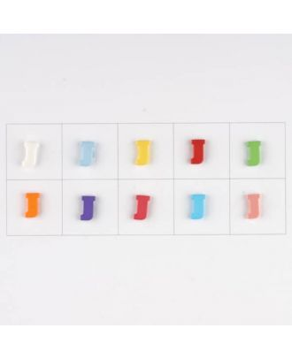 letter J, 10 mixed colours, 3 buttons per colour - Size: 11mm - Color: mixed: red, pink, orange, lilac, blue, yellow, green, white, light blue,rose - Art.-Nr.: 181342
