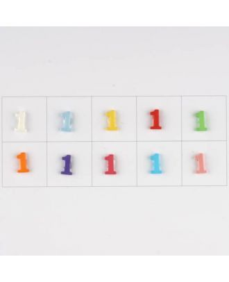 number , 10 mixed colours, 3 buttons per colour - Size: 11mm - Color: mixed: red, pink, orange, lilac, blue, yellow, green, white, light blue,rose - Art.-Nr.: 181360