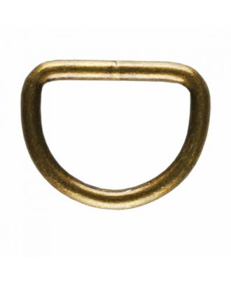 D-ring - Size: 20mm - Color: antique brass - Art.No. 261345